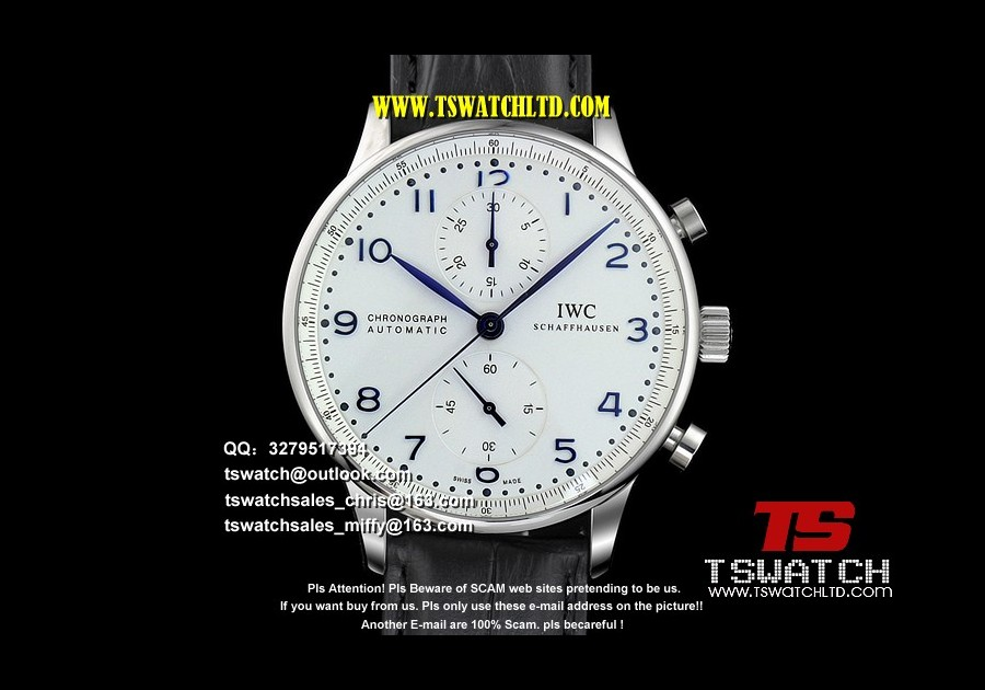 IC17343 - IW371446 Portuguese JF 1:1 V4 White Dial SS LT A7750