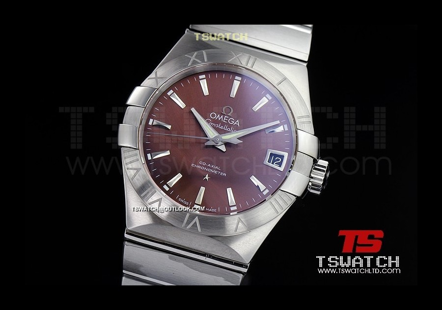 OM15809 - Omega Constellation Co-Axial SS Brown Dial 1:1 Best A8500