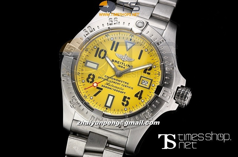 BR0890B - Breitling Seawolf V2 H-Factory Yellow Dial SS/SS - Swiss ETA 2836-2