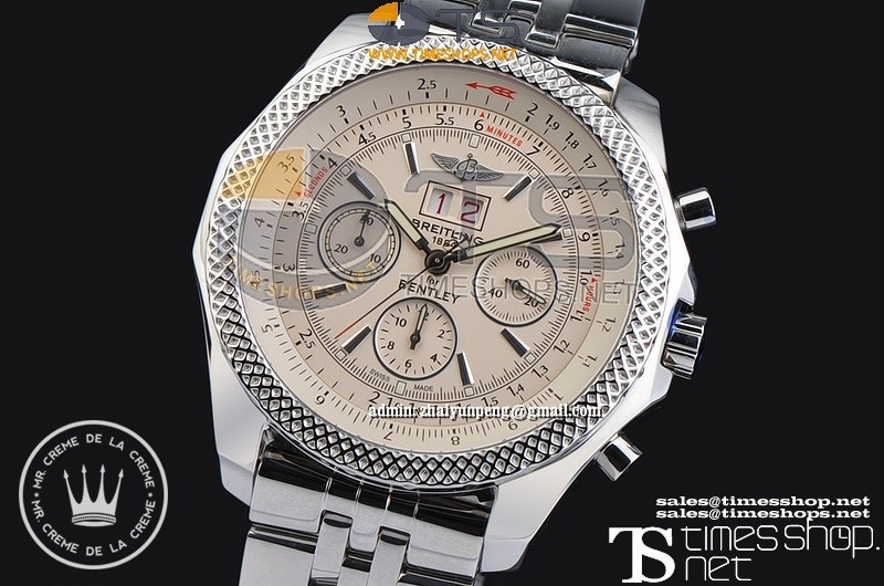 XFBR0230 - Breitling Bentley 6.75 Big Date SS/SS White Dial - Asian 7750 28800bph