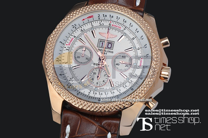 BR9670 - Breitling Bentley Big Date Chrono RG/LT White Dial - Asian 7750 28800bph