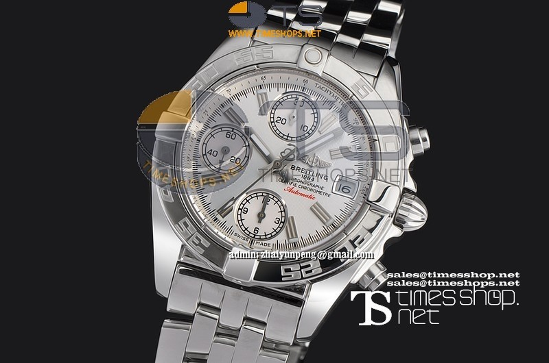 BR6240FOT - Breitling Galactic Chronograph Mid Size SS/SS White - Asian 7750 28800bph