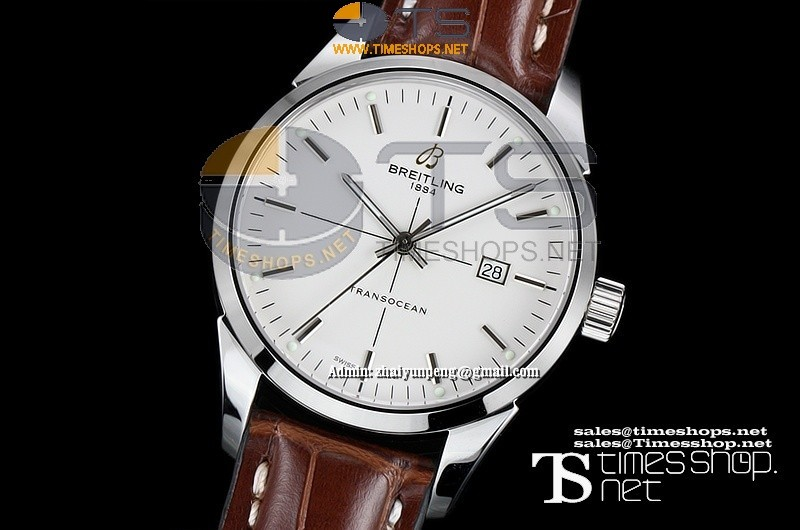 BR0300FO - Breitling Transocean SS/LT White Dial - Asian 2892 Automatic