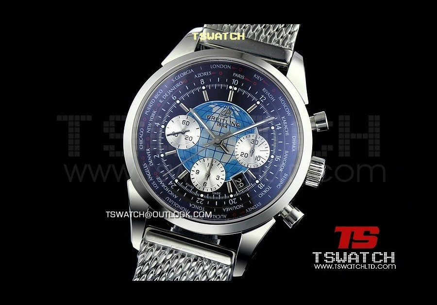 BR13811 - TransOcean SS/SS Black Dial Asia 7750