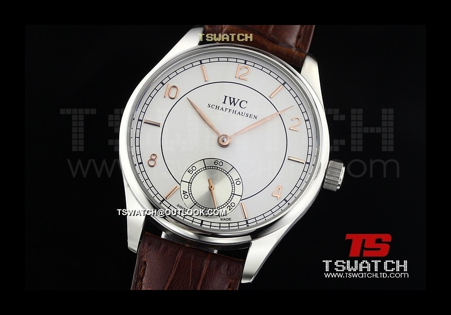 IWC14668 - Portuguese SS White Dial LT Asian Manual Wind