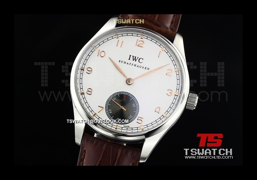 IWC14667 - Portuguese SS White Dial LT Asian Manual Wind