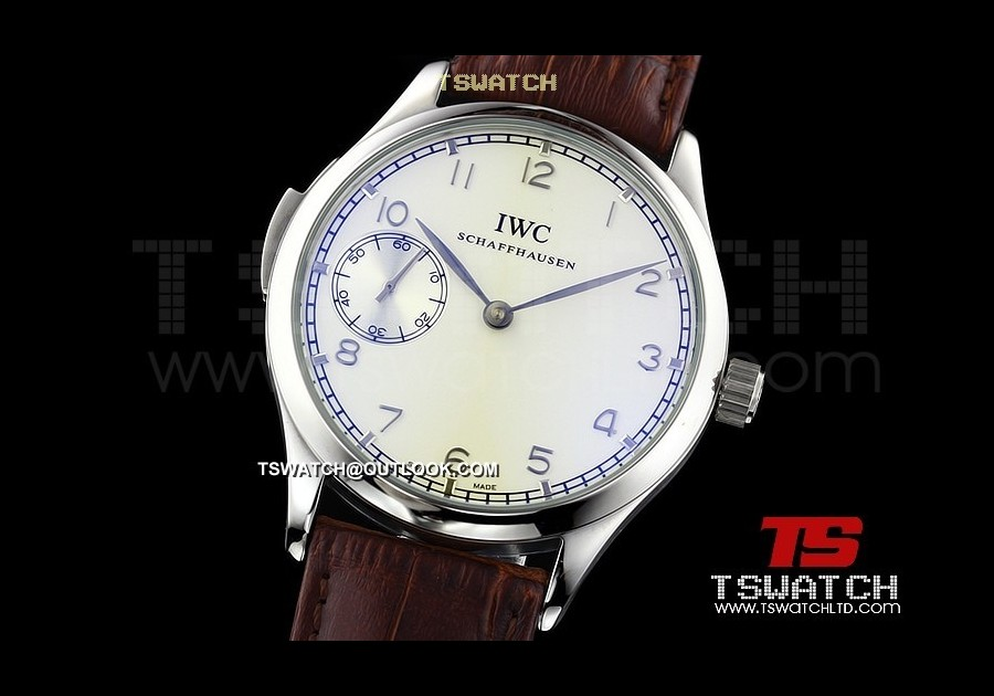IWC14664 - Portuguese SS White Dial LT Asian Manual Wind