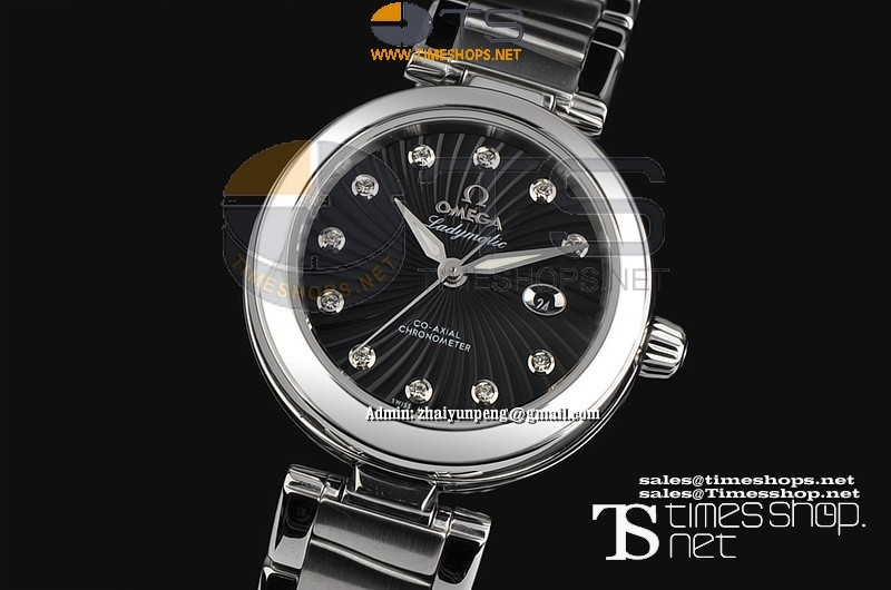 OM6460F - Omega Ladymastic SS/SS Black Dial - Asian 21J Automatic