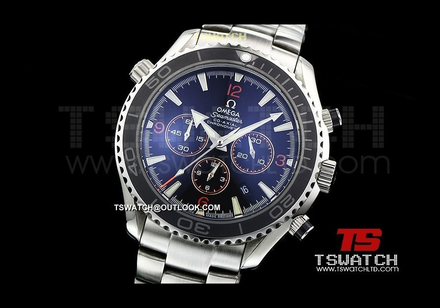 OM14581 - Planet Ocean SS Black Dial Ceramic 48MM Japan Quartz Chrono