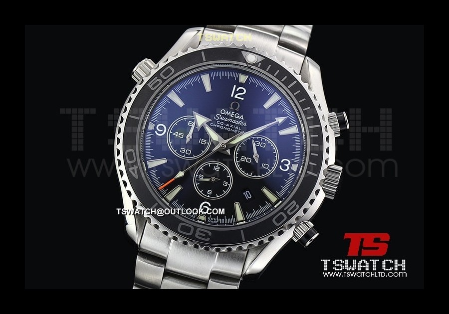 OM14584 - Planet Ocean SS Black Dial Ceramic 48MM Japan Quartz Chrono