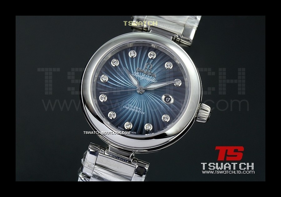 OM15820 - Omega Ladymatic SS Blue Dial A8520 Automatic