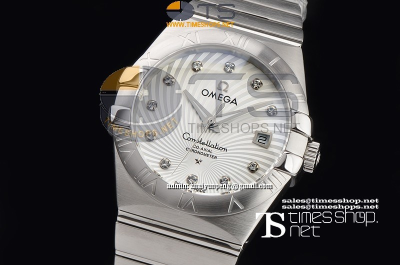 OM8030 - Omega Constellation Mans SS/SS White Dial - Asian Clone 2836-2