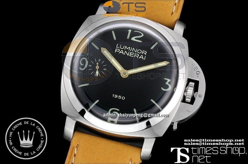 XFPA0500 - Pam127 1950 SS/LE Black Dial 47mm Superlume Noobfactory Best - Asian 6497