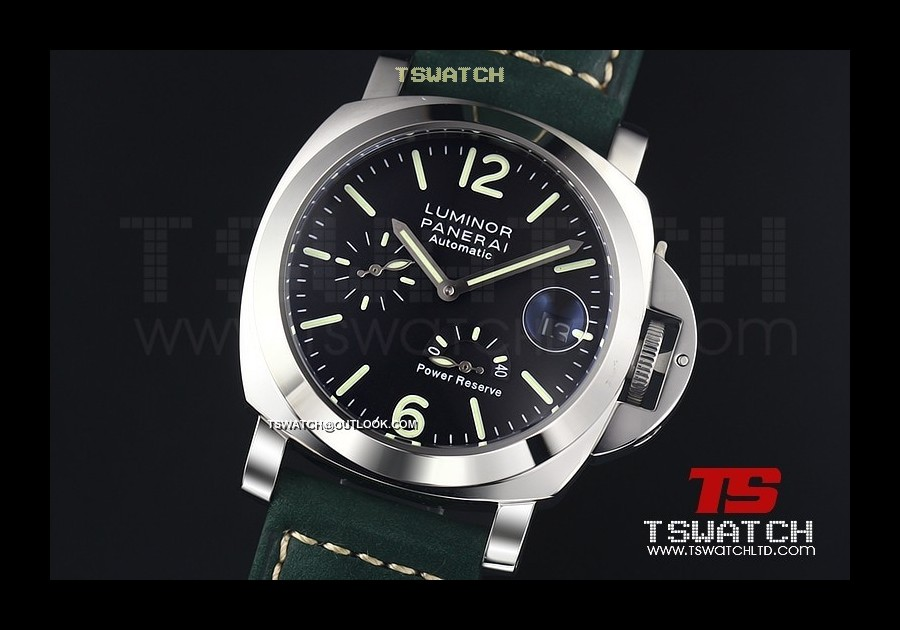 PA14970 - Luminor Power Reserve SS LT Black Dial Asian Automatic
