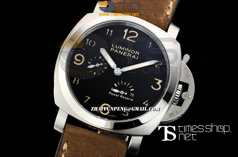 PA13618 - Luminor Power Reserve Black Dial SS/LT - Asian Automatic
