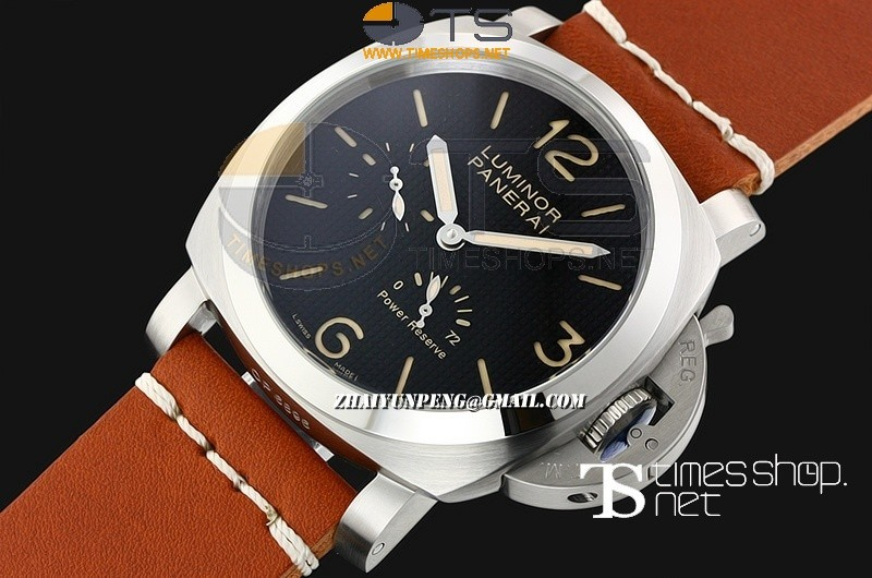 PA13617 - Luminor Power Reserve Black Dial SS/LT - Asian Automatic
