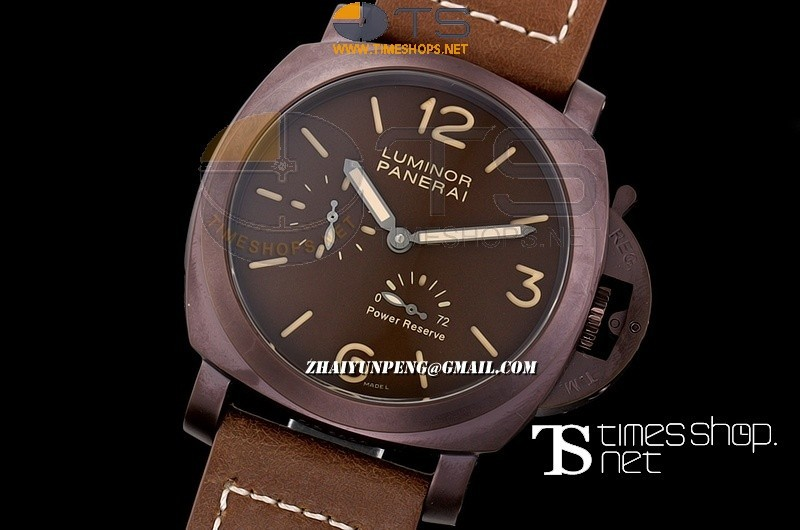 PA13614 - Luminor Panerai Power Reserve Brown PVD/LT - Asian Automatic