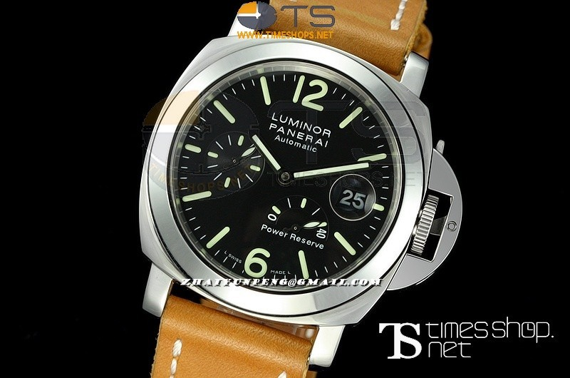 PA6810B - Pam090 I H-Factory Best SS/LT Black Power Reserve - Asian 7750
