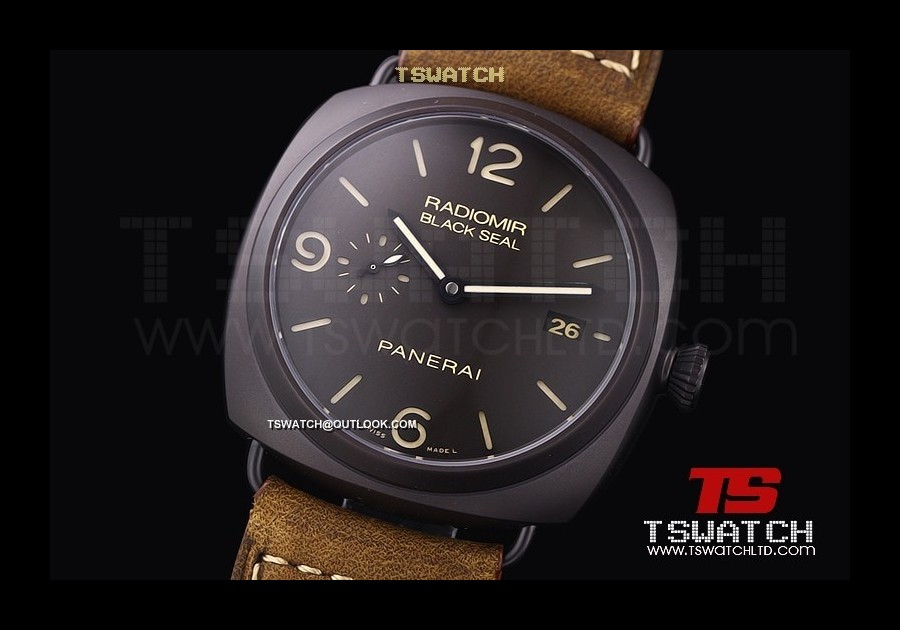 PA14889 - ZF and Tswatch Project Pam505 O Radiomir Black Seal TI DLC Brown LE 1:1 Best P9000