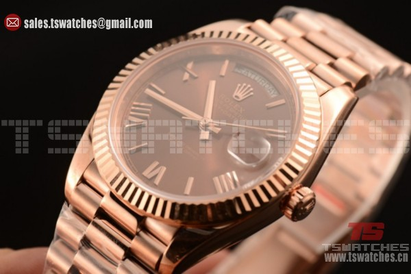 Rolex Day-Date 3235 Auto Brown Dial RG/RG