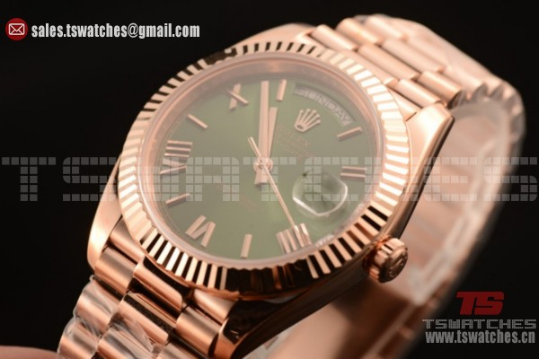 Rolex Day-Date 3235 Auto Green Dial RG/RG