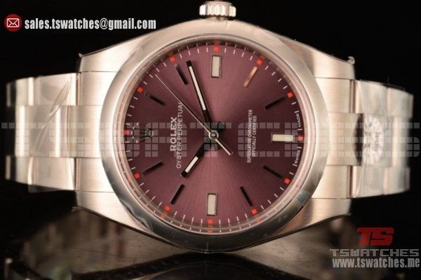 1:1 Rolex Oyster Perpetual Air King Clone Rolex 3135 Auto Red Grape Dial RG/SS(AR)